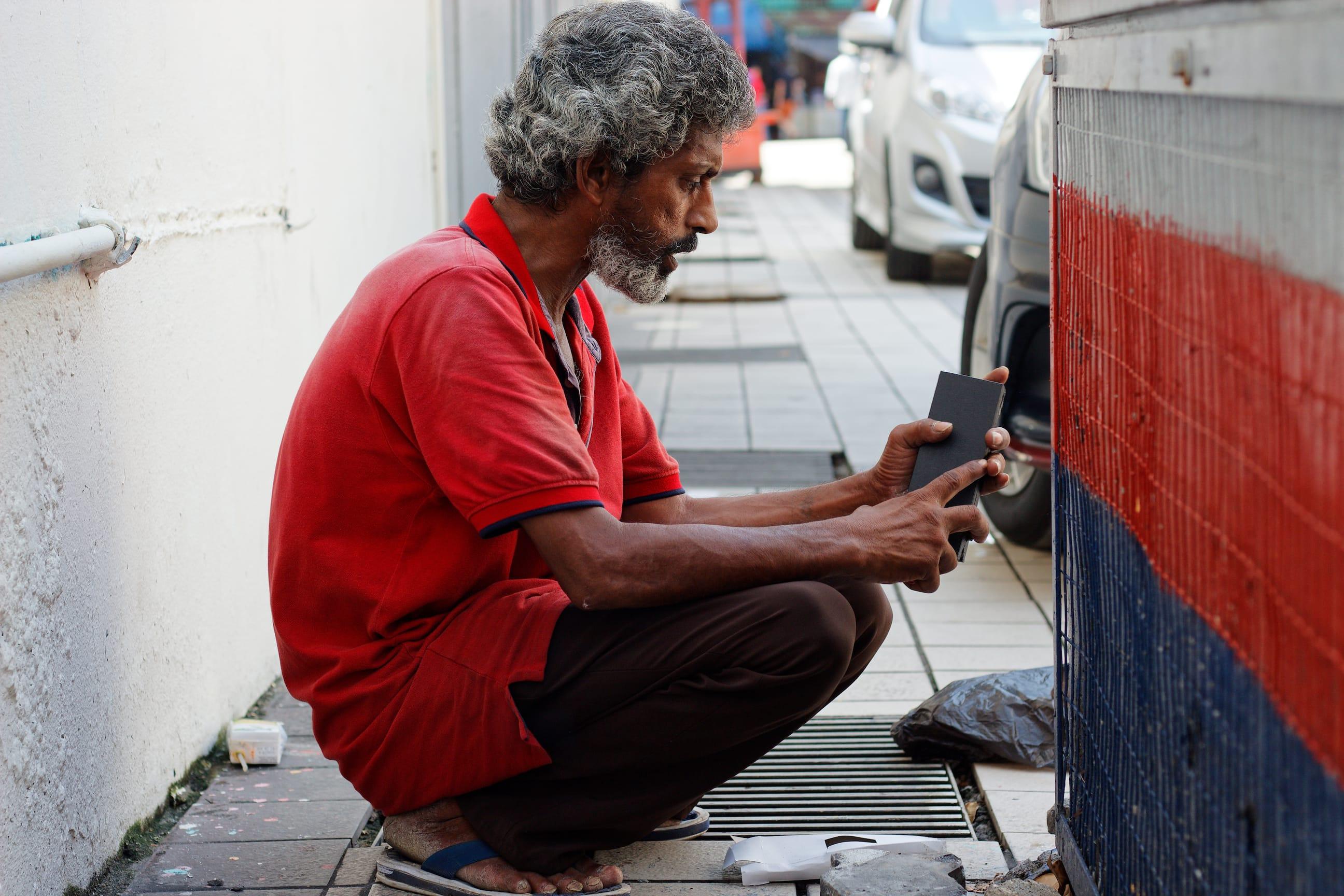 A Homeless Man in Kuala Lumpur