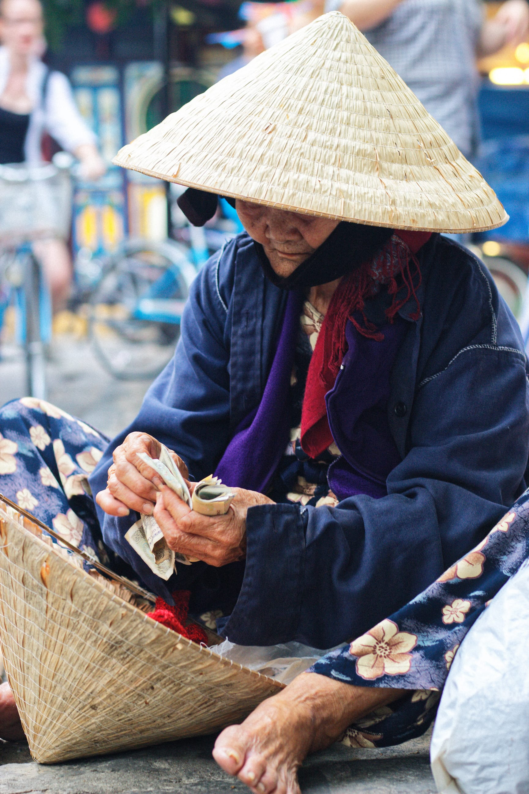 A Street Vendor in Hoi An