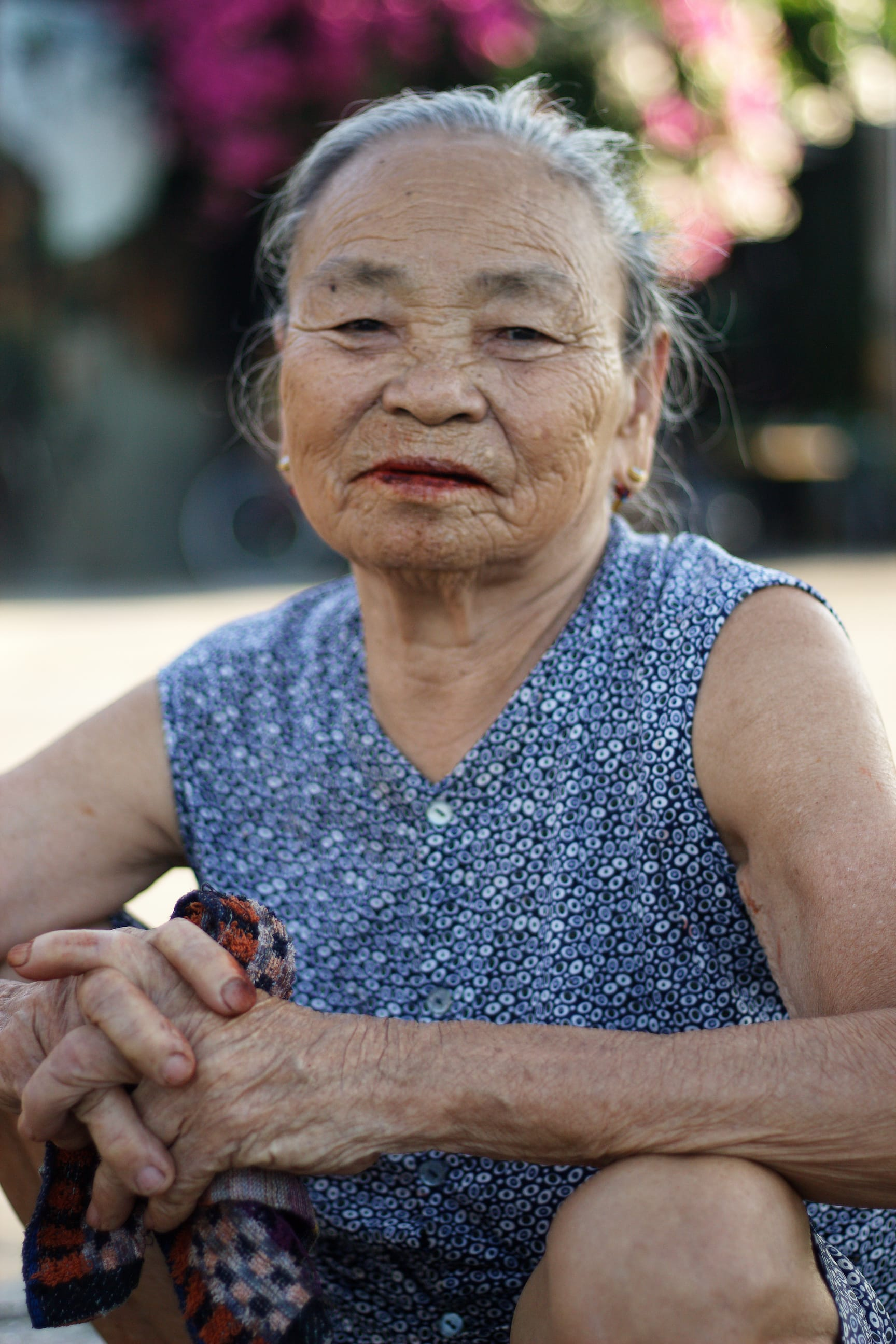An Old Woman in Hoi An Vietnam