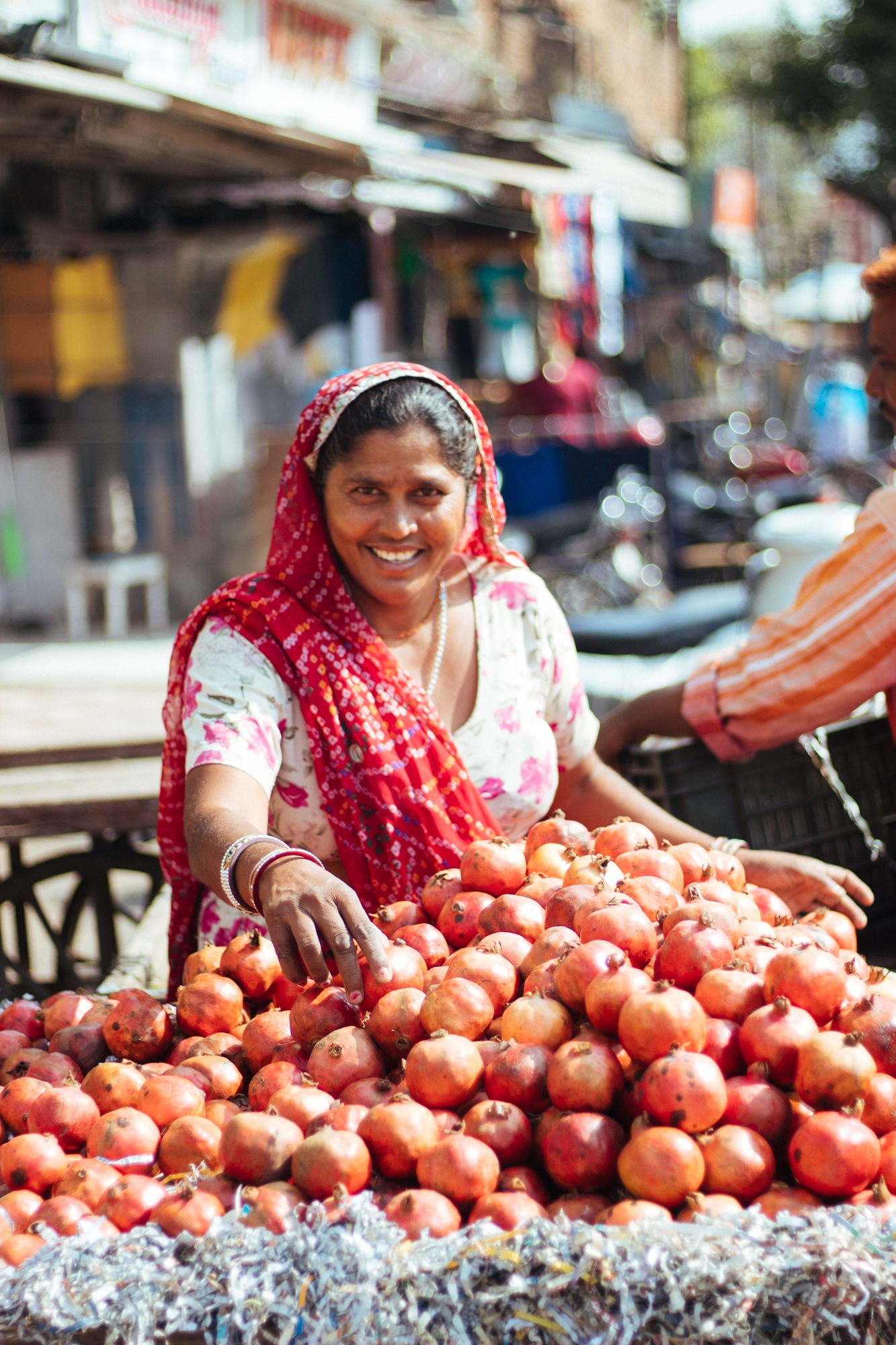 A woman selling fruits in Ajmer