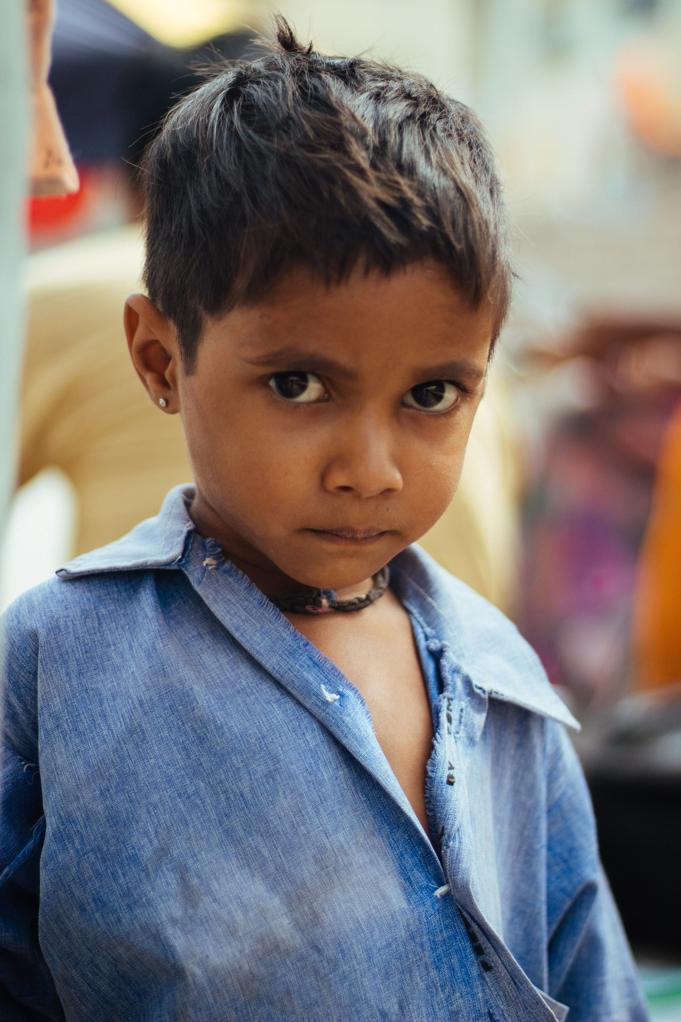 A young boy at Pushkar ghat