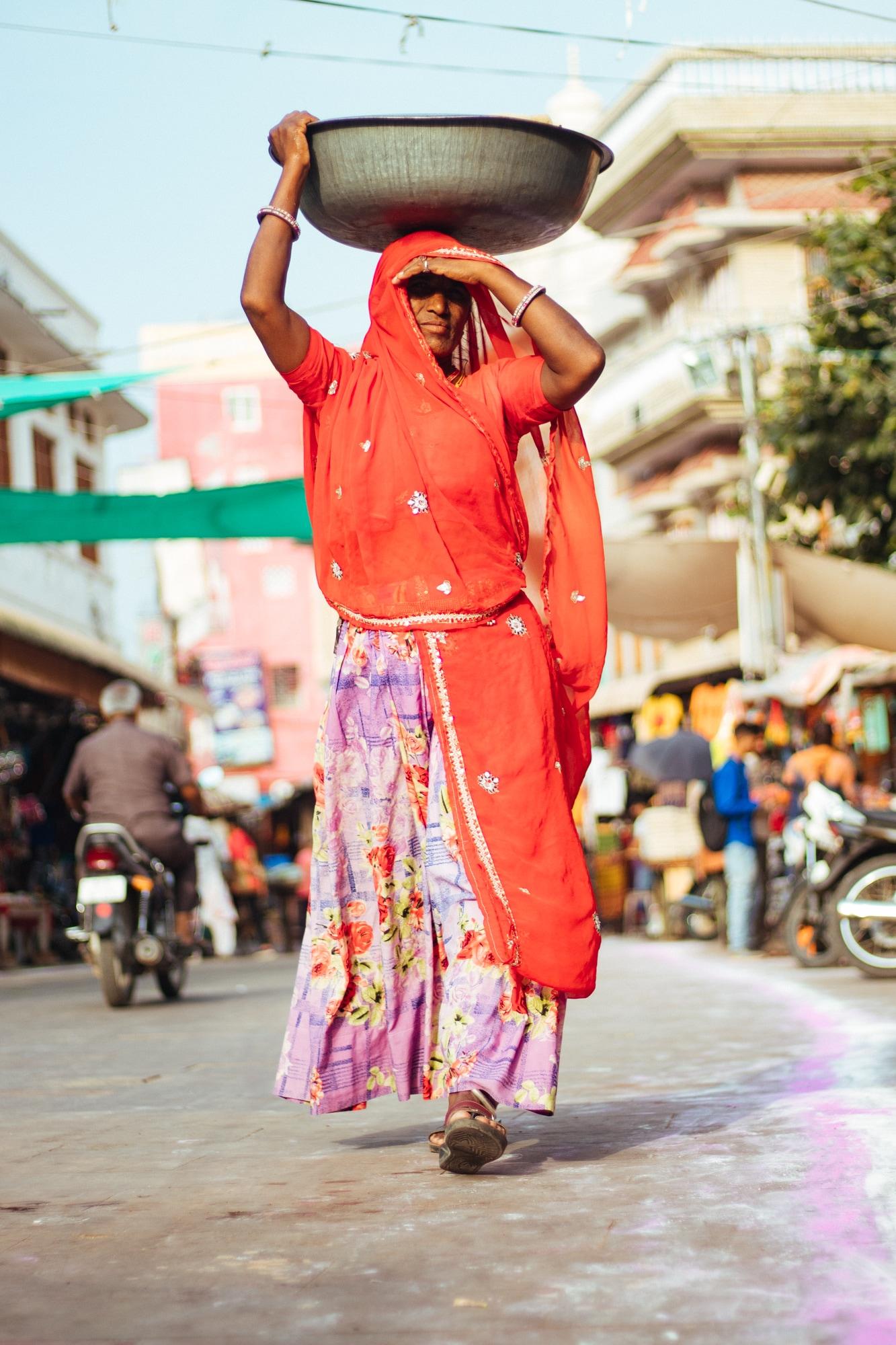 A woman in street