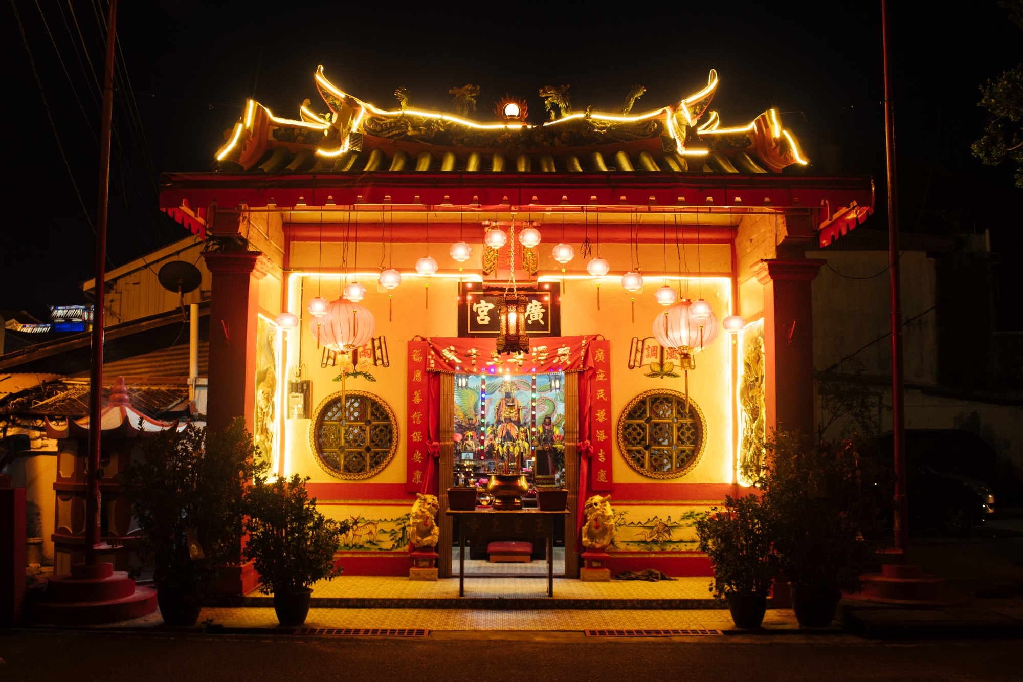 A Buddhist temple in Malaka, Malaysia