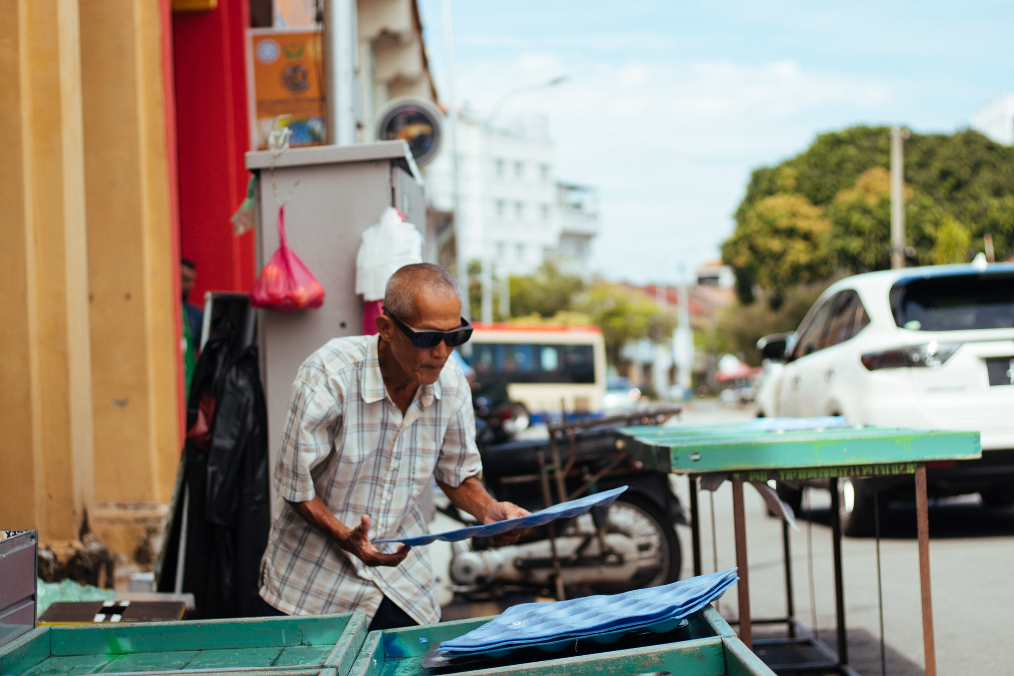 Man at work, George Town, Penang