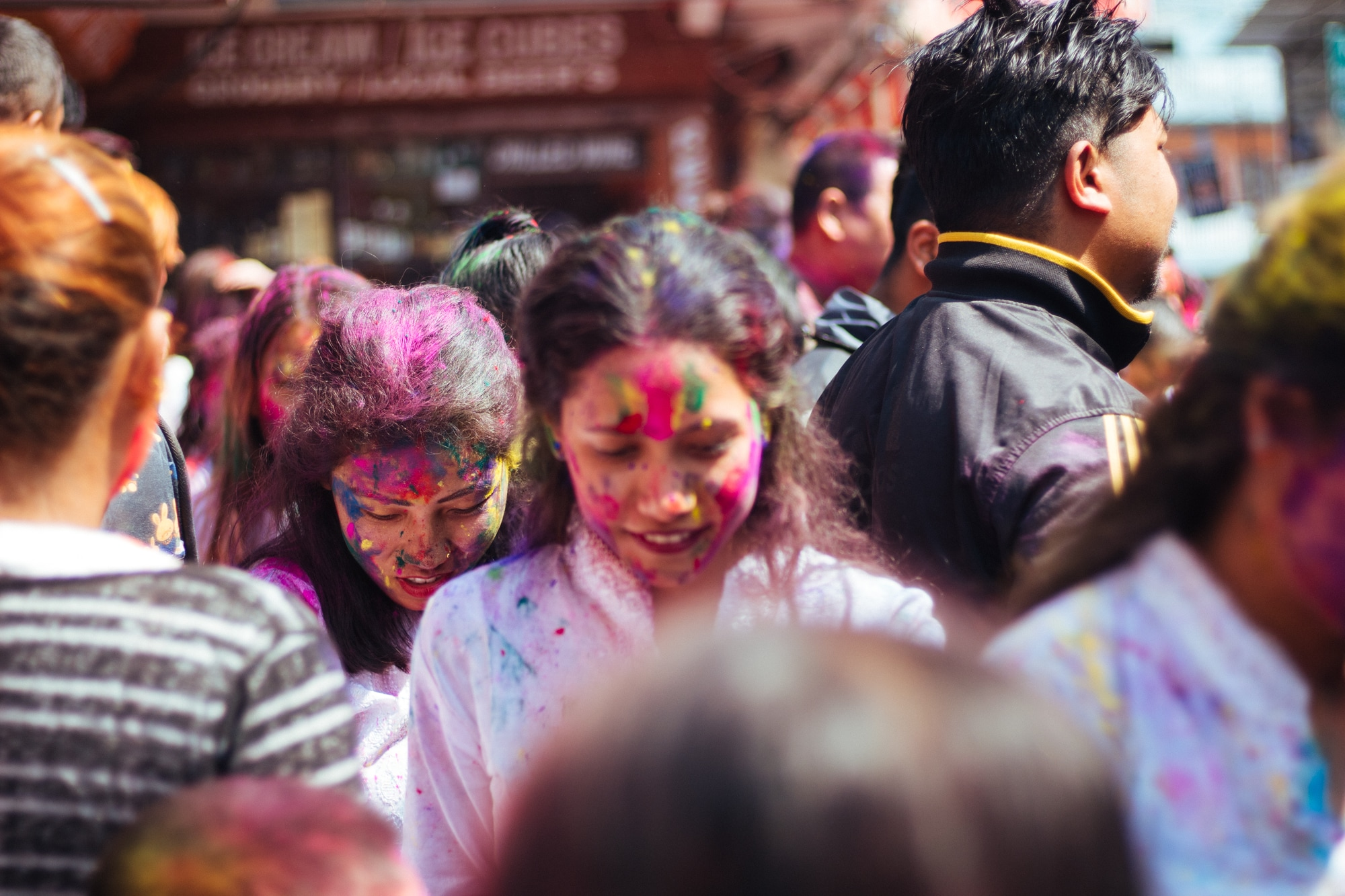 Holi celebrations at the 'center point'