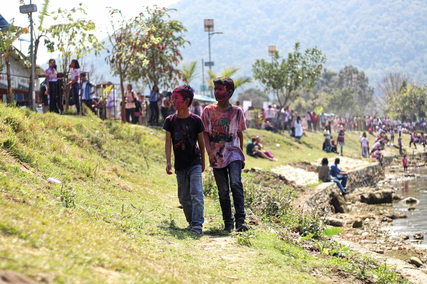 Pokhara Lakeside During Holi