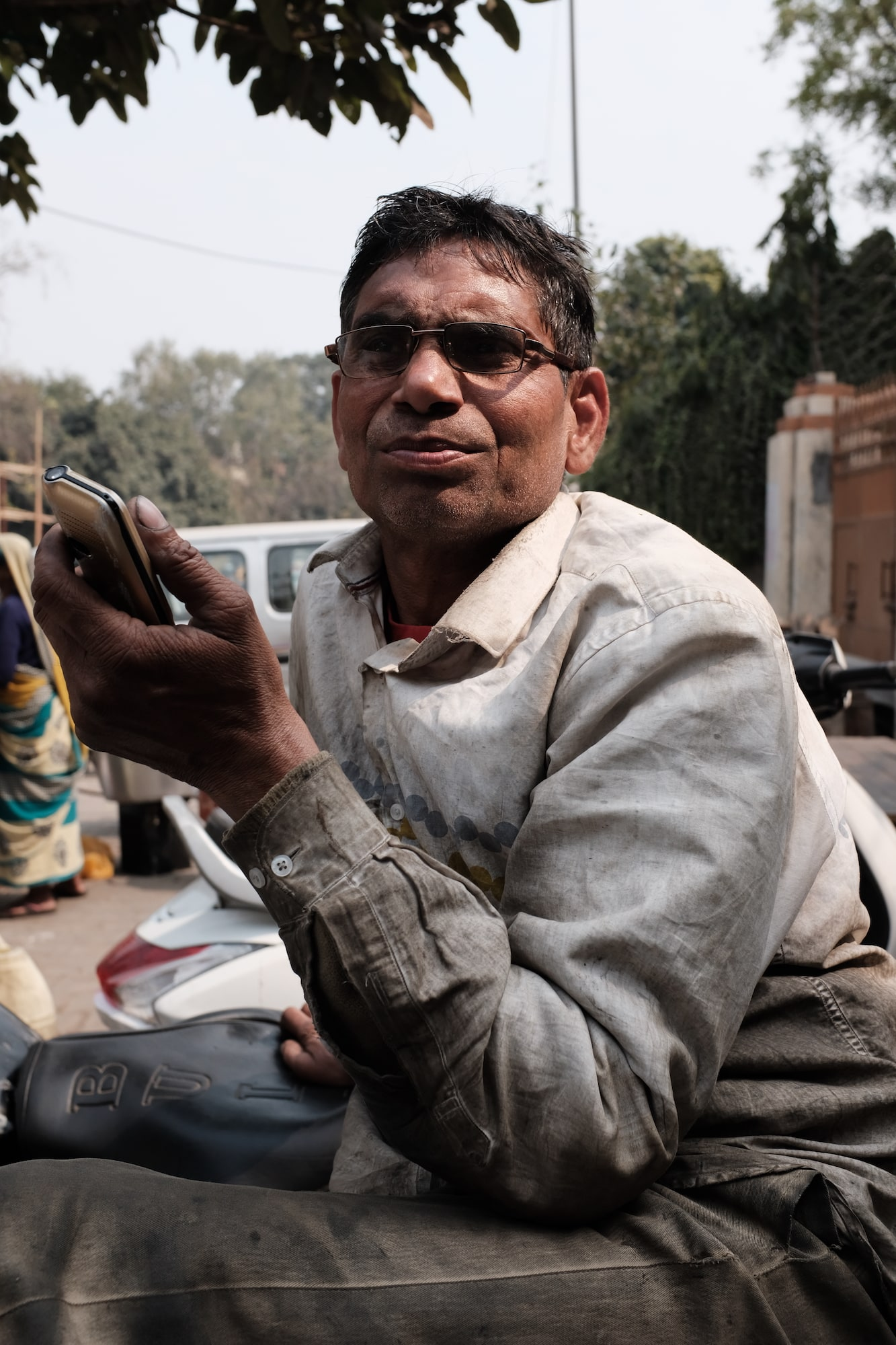 A Man in Streets of Old Delhi