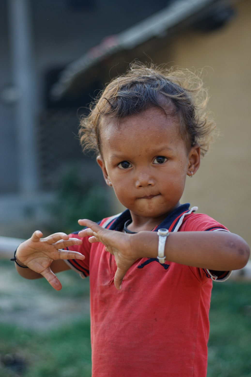 A Young Kid Photographed in Bardiya Nepal