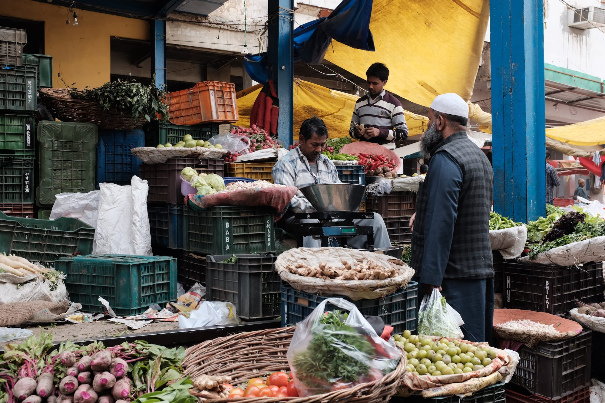 At A Vegetable Market in Old Delhi