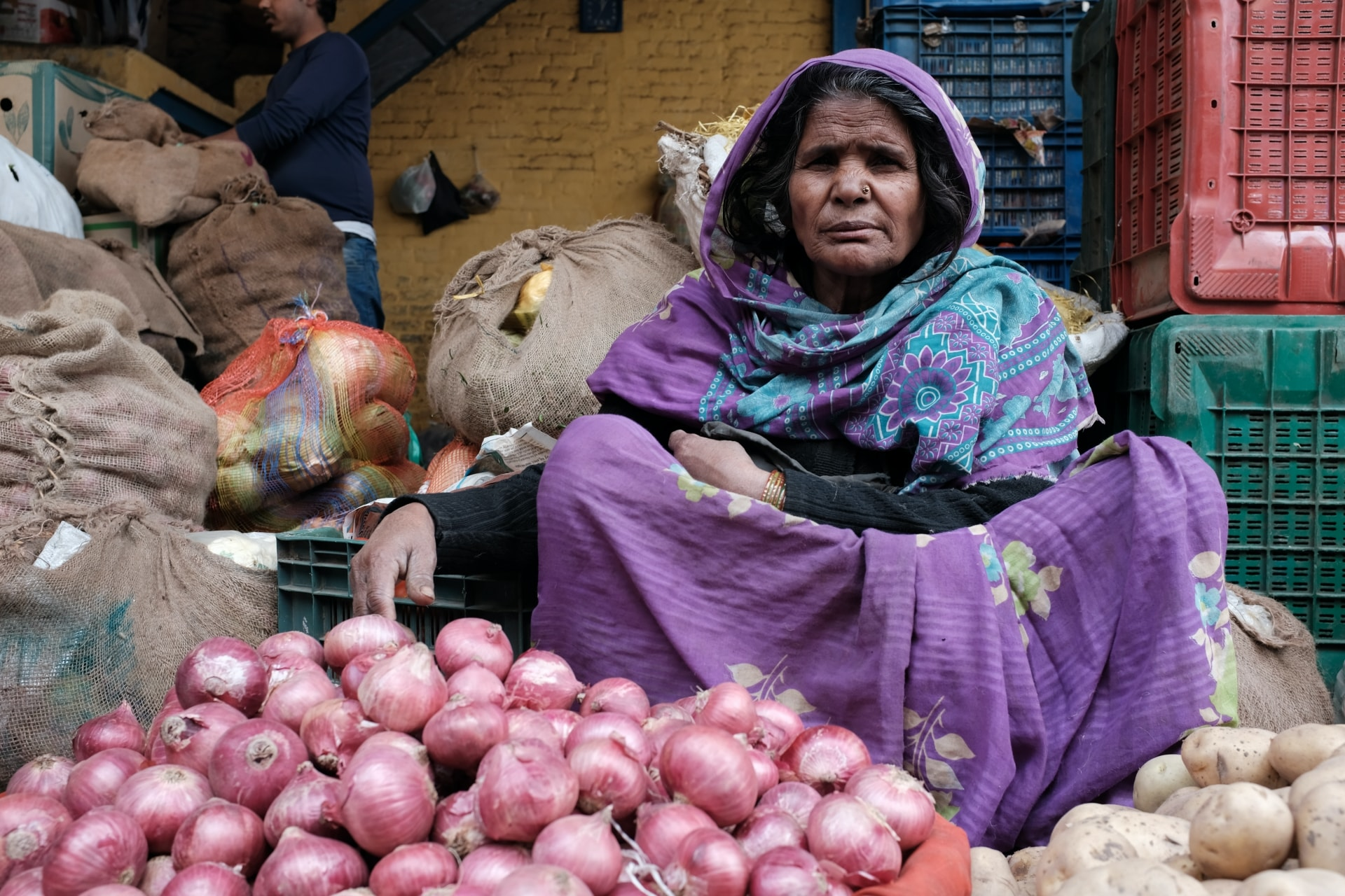 Photography at a Vegetable Market in Delhi