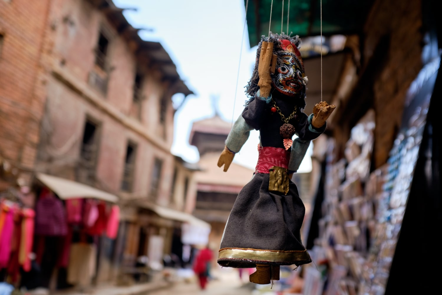 A puppet hanging at a shop in Bhaktapur