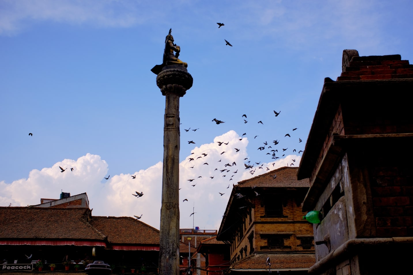 Garuda statue in front of Dattatraya Temple in Bhaktapur.