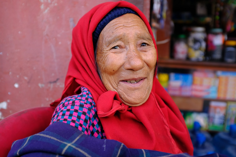 A Woman in Kathmandu Smiles at Camera