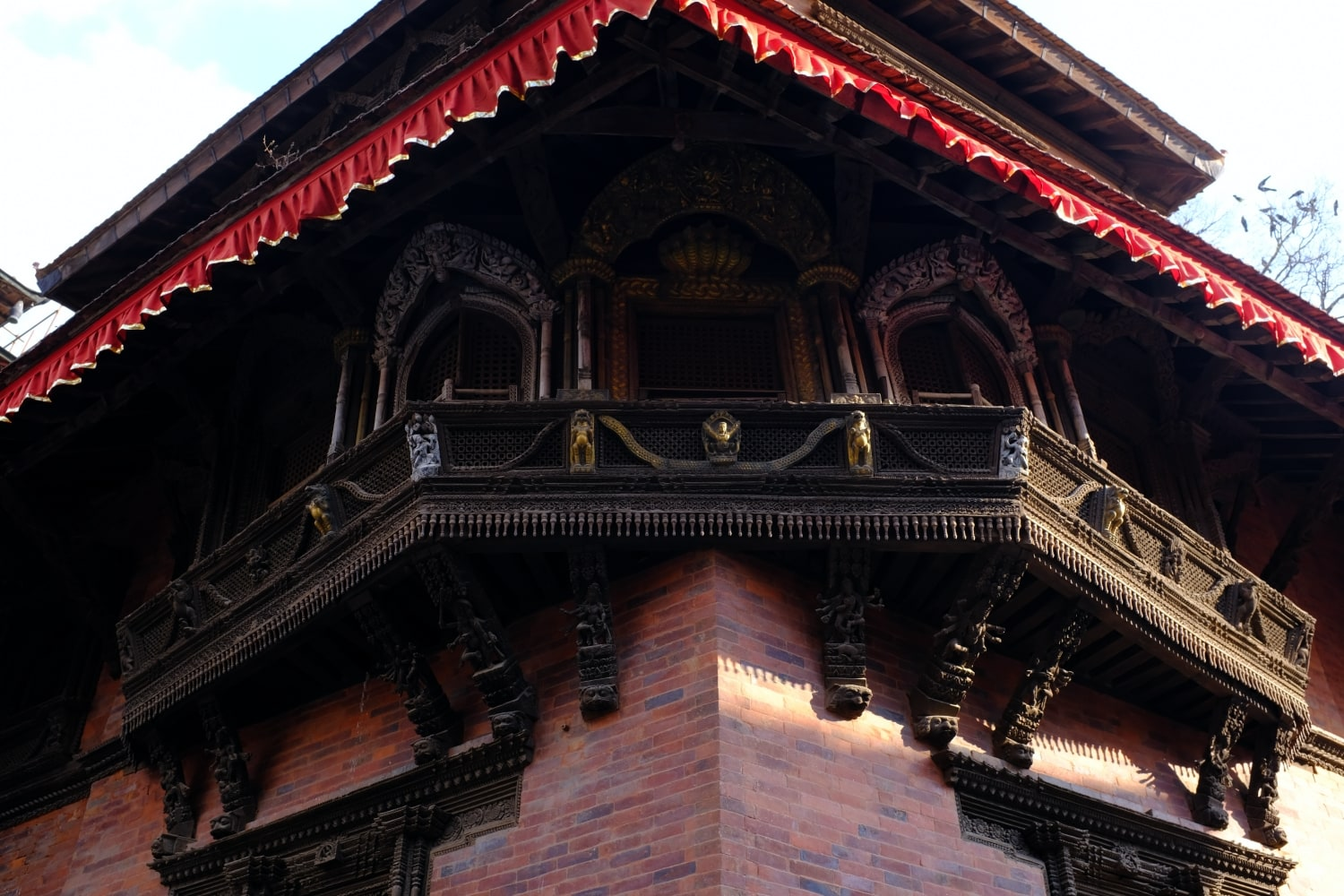 Wood carving at a Temple in Kathmandu Durbar Square