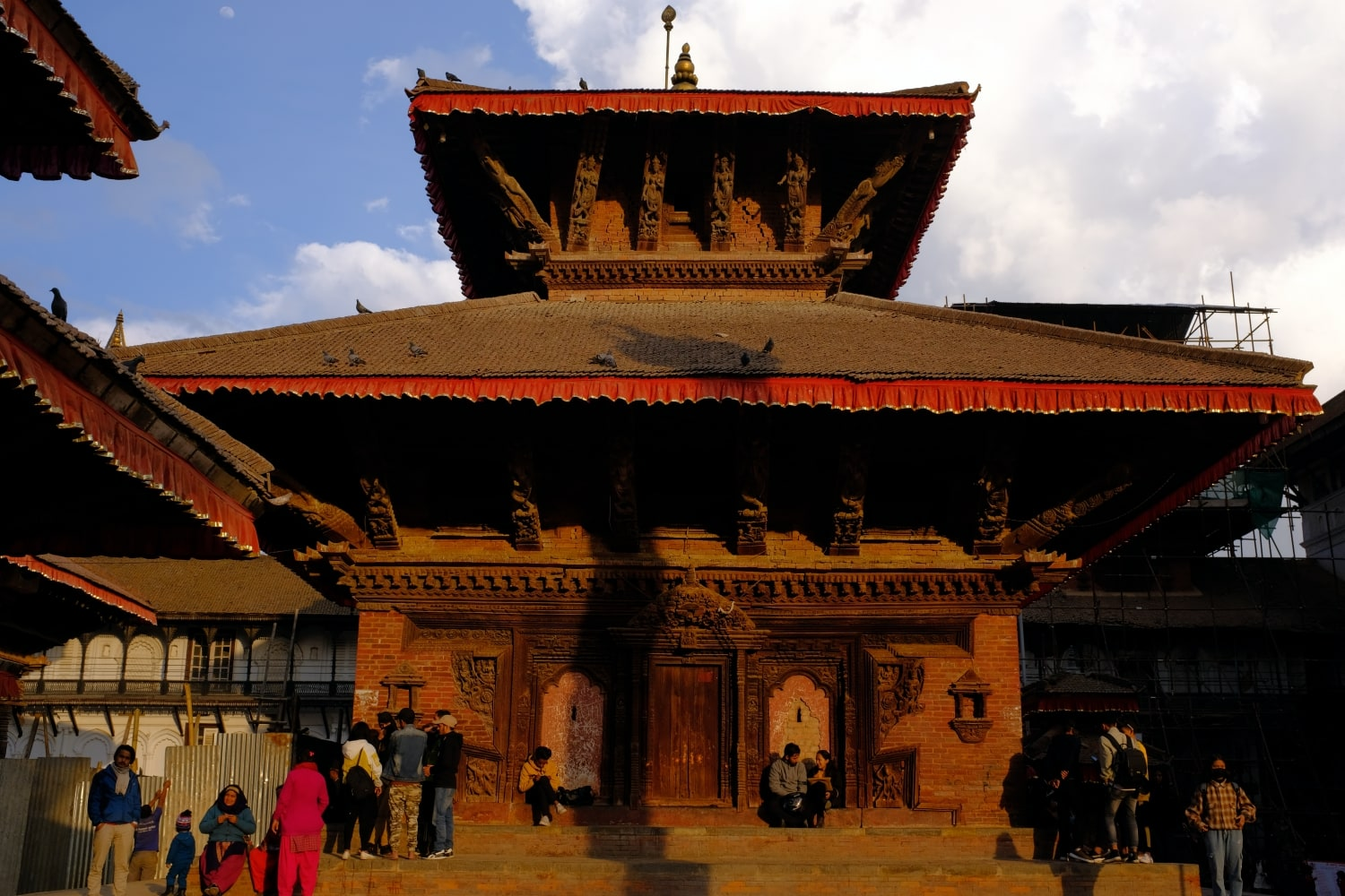 A Temple Photographed at Kathmandu Durbar Square