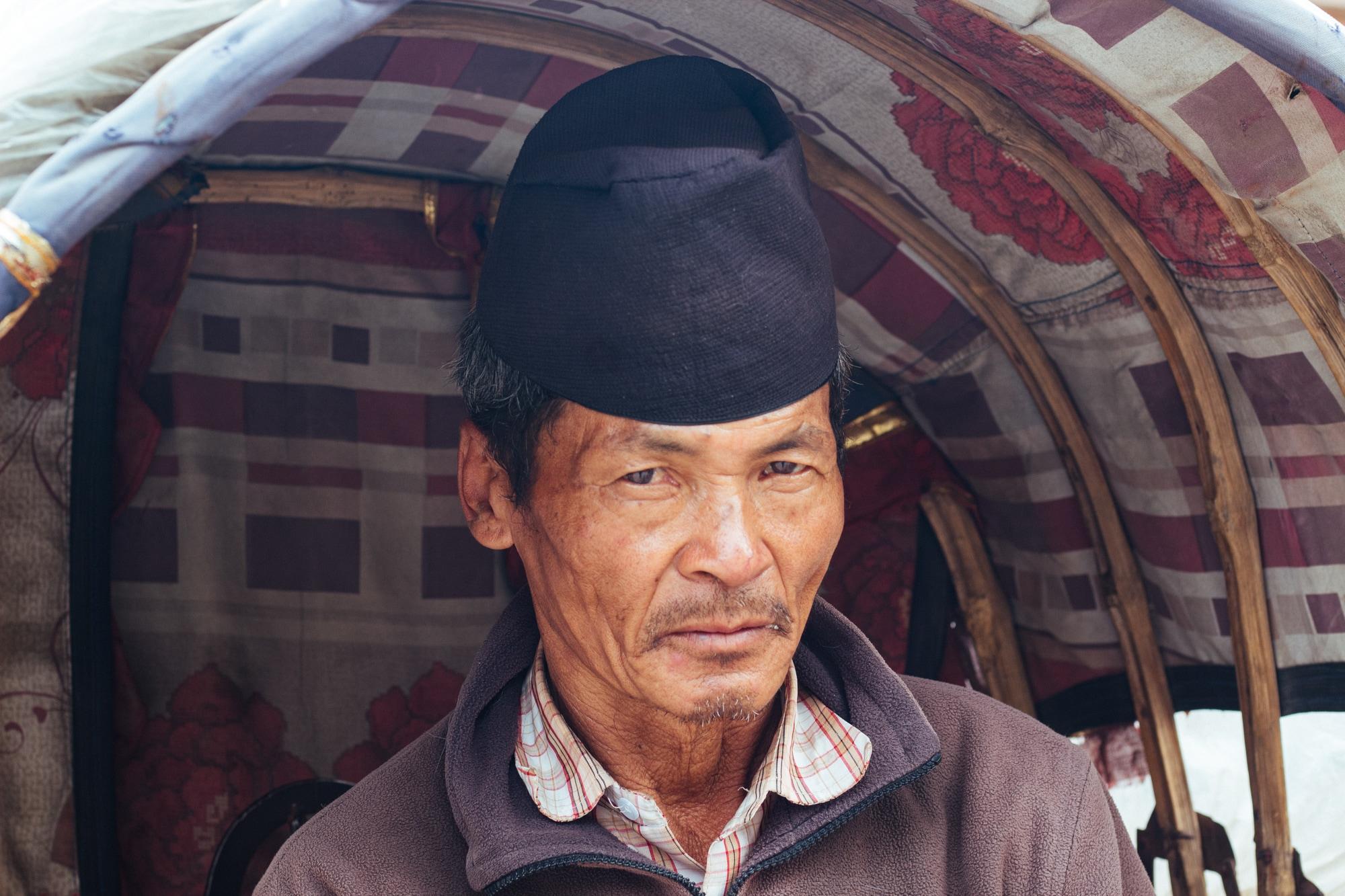 Thapa - a pedal rickshaw driver