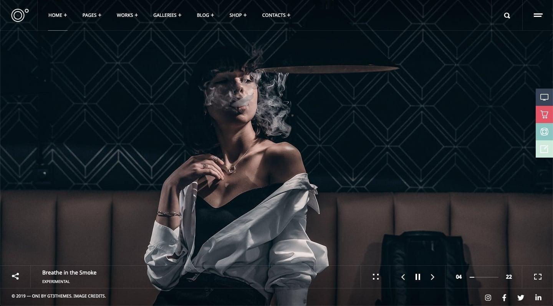 Oni WordPress Theme for Photography Websites