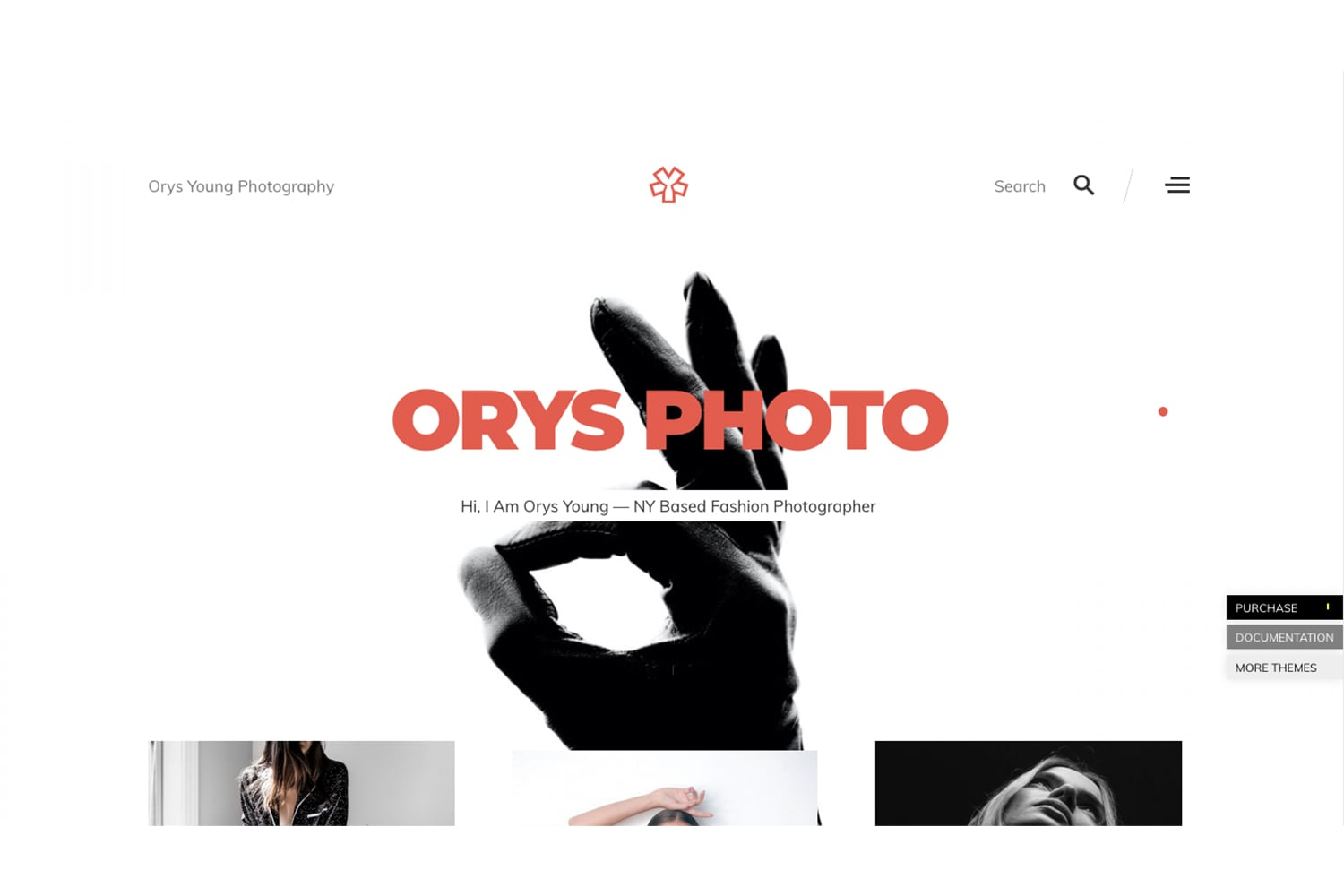 Orys Creative Photography Theme for WordPress