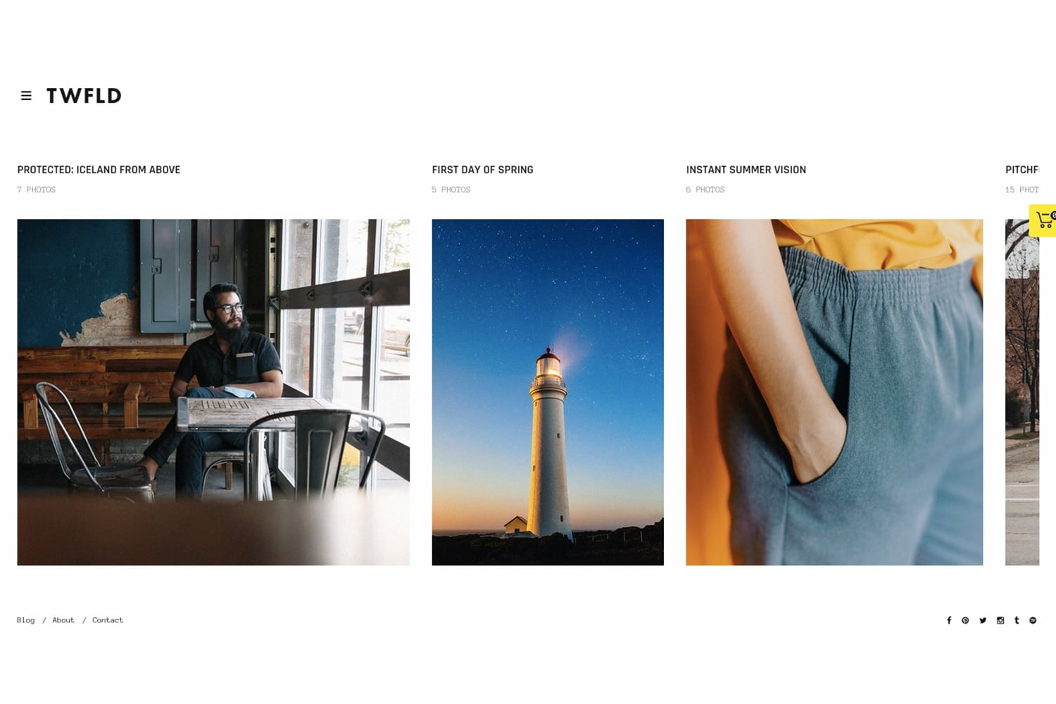 Twofold WordPress Theme for Photography Websites