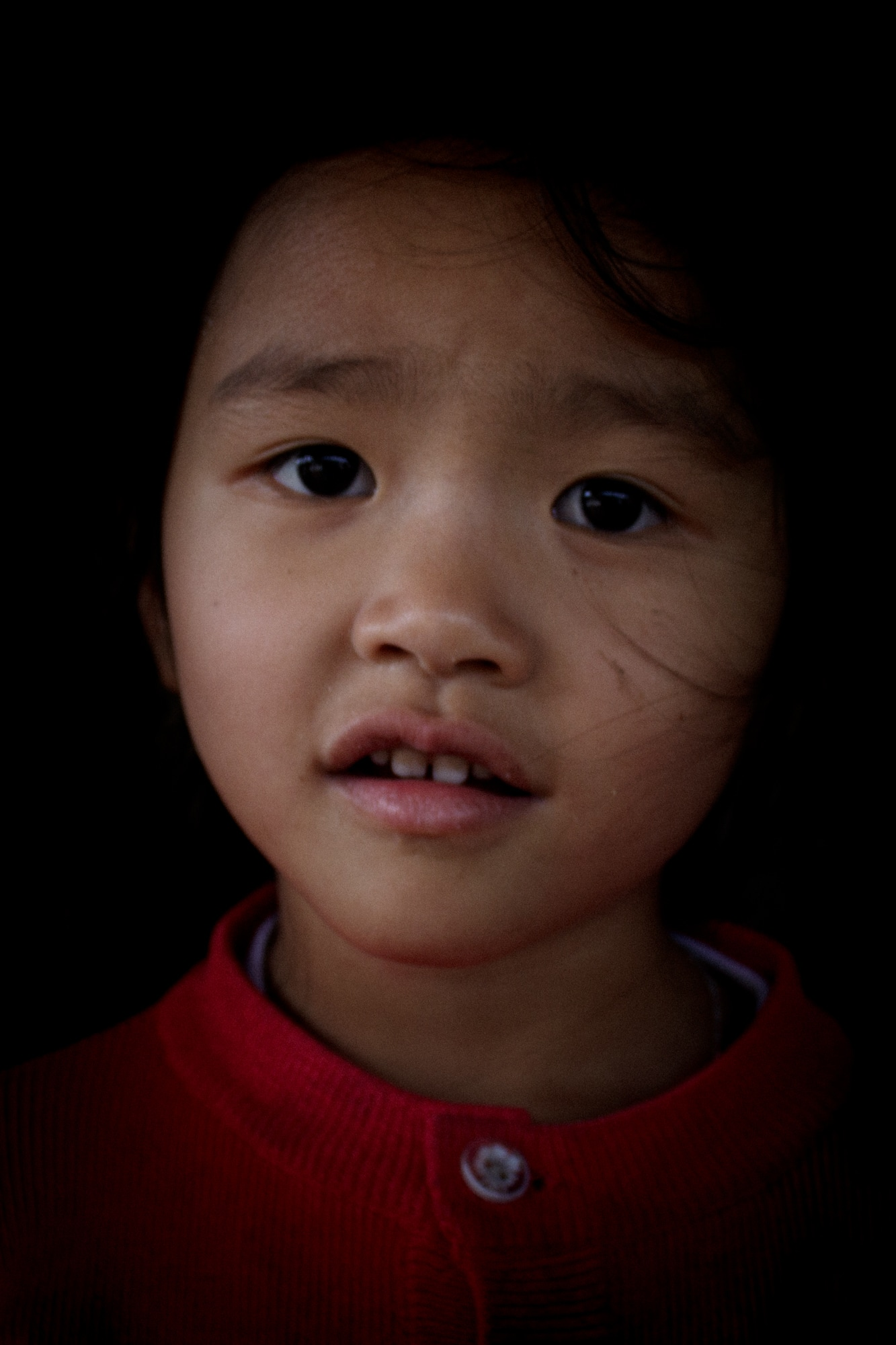 Portrait of a girl at a village in Da Lat, Vietnam.