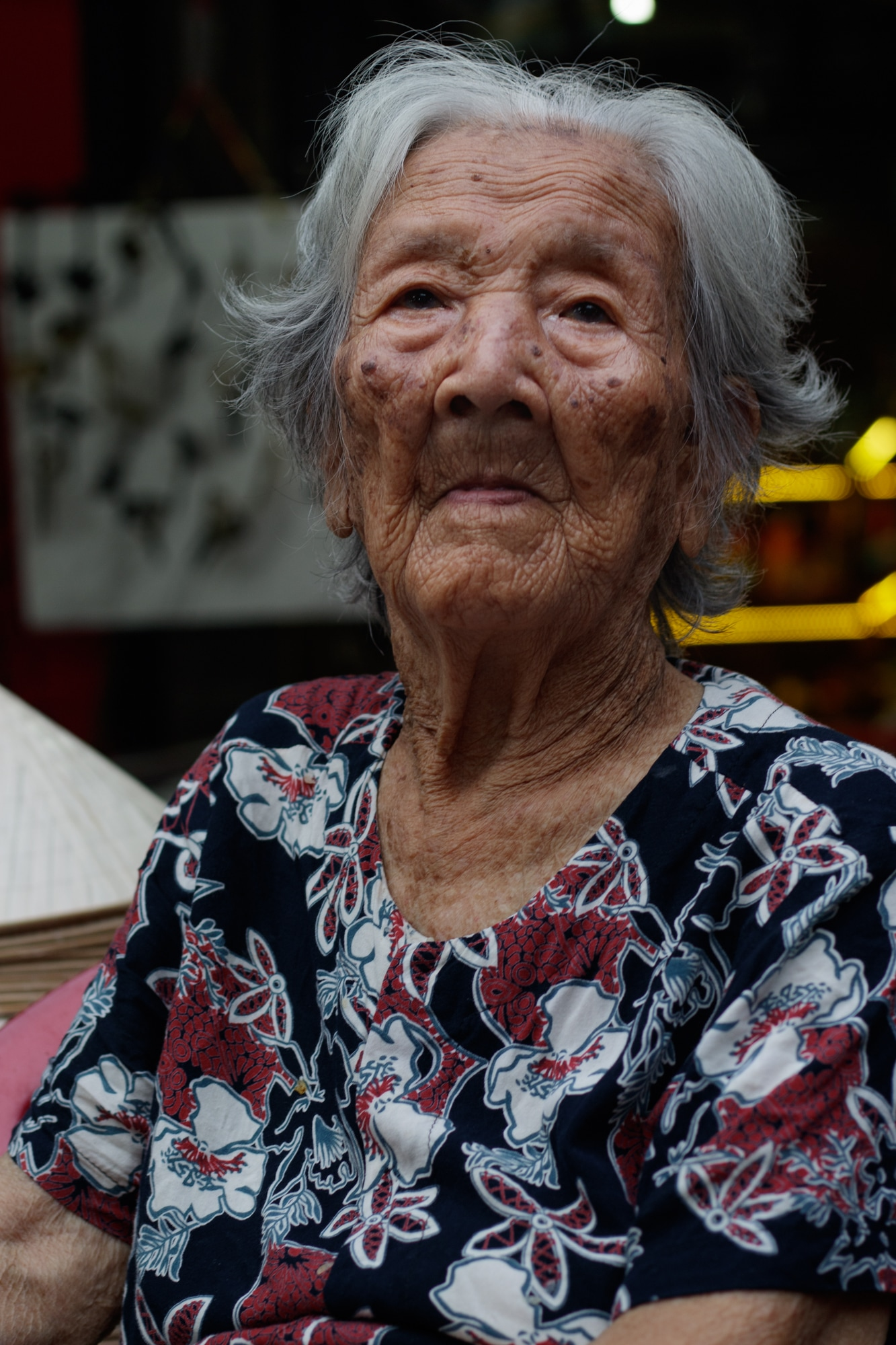 A 102-year-old woman photographed in Hoi An - 2018.
