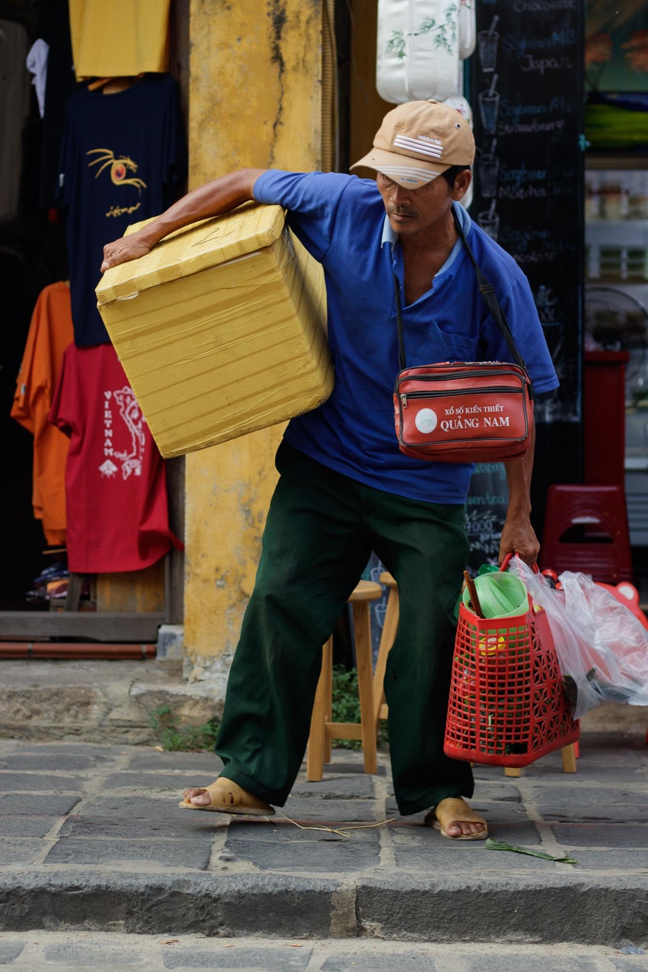 A street food vendor in Hoi An, Vietnam.