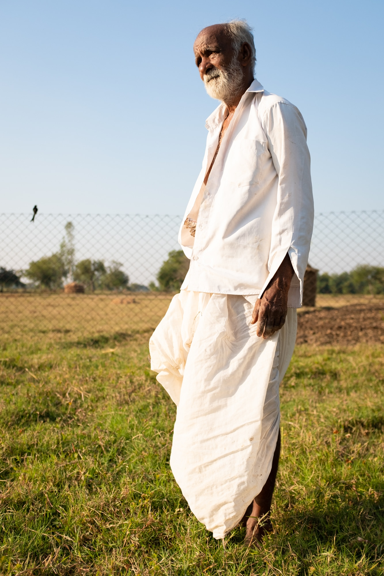 A man photographed in Matar village, some 40 km south of Ahmedabad.