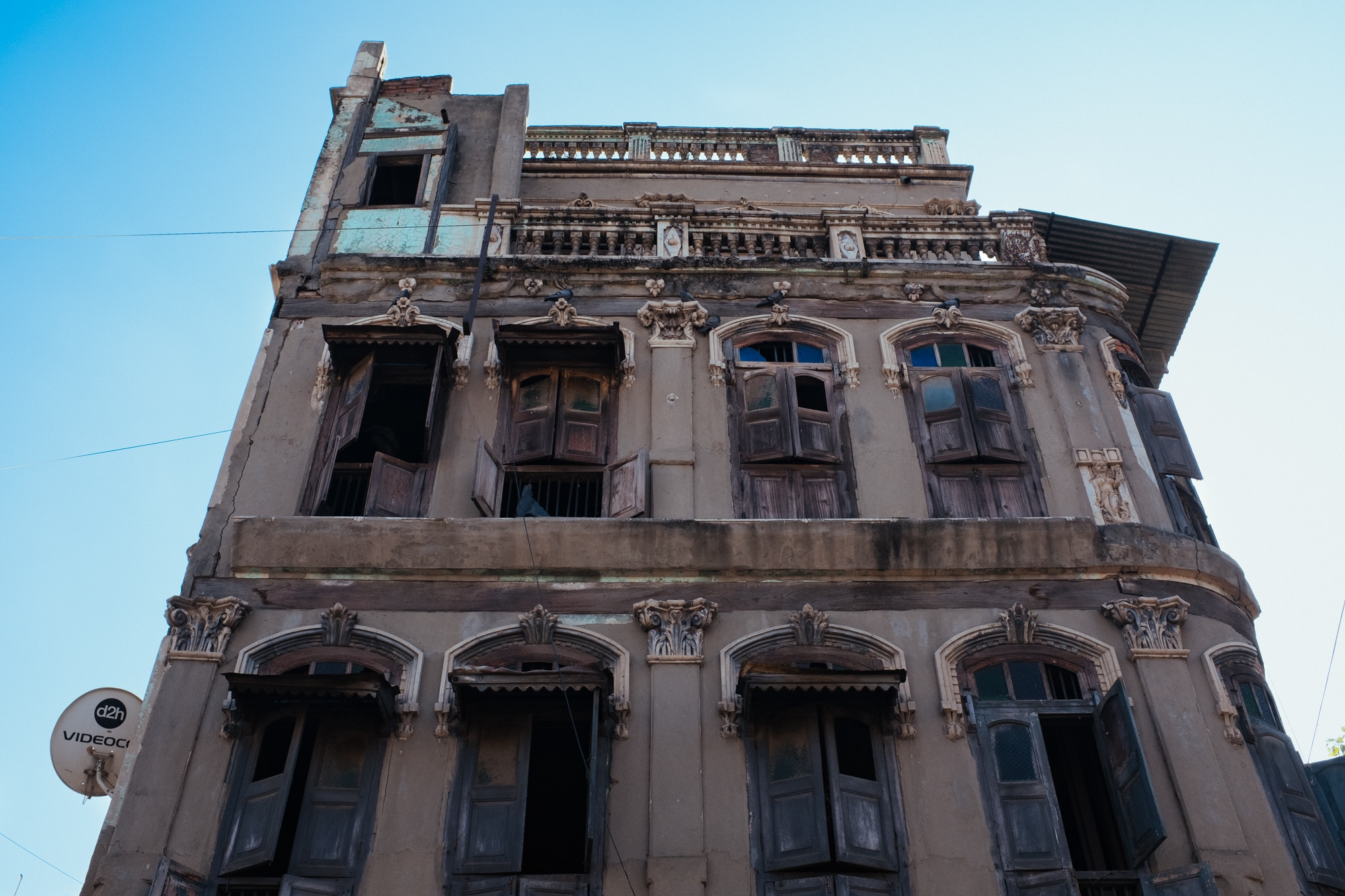 An abandoned building in Ahmedabad.