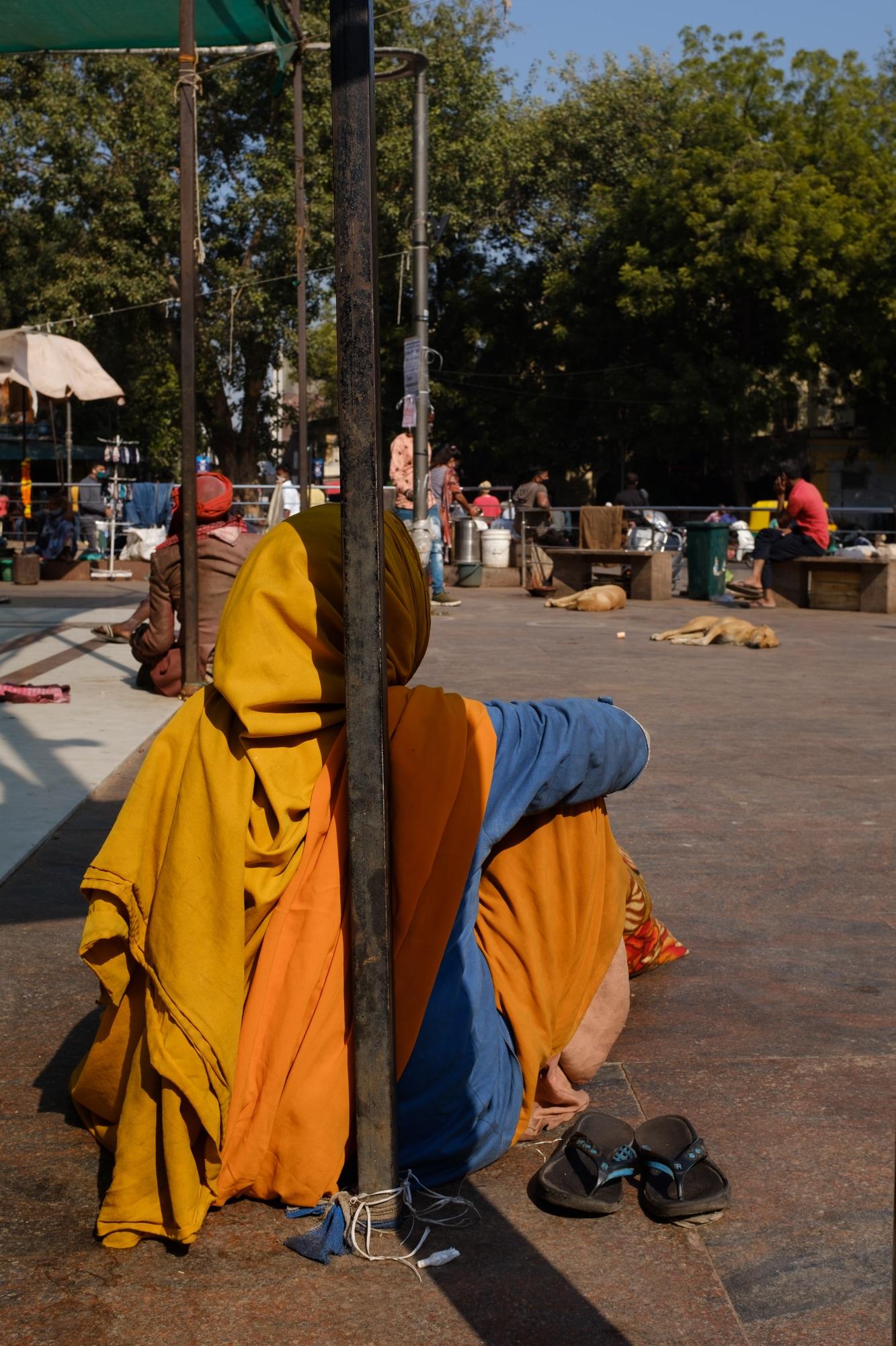 A woman at Bhadra Kali temple, Ahmedabad.