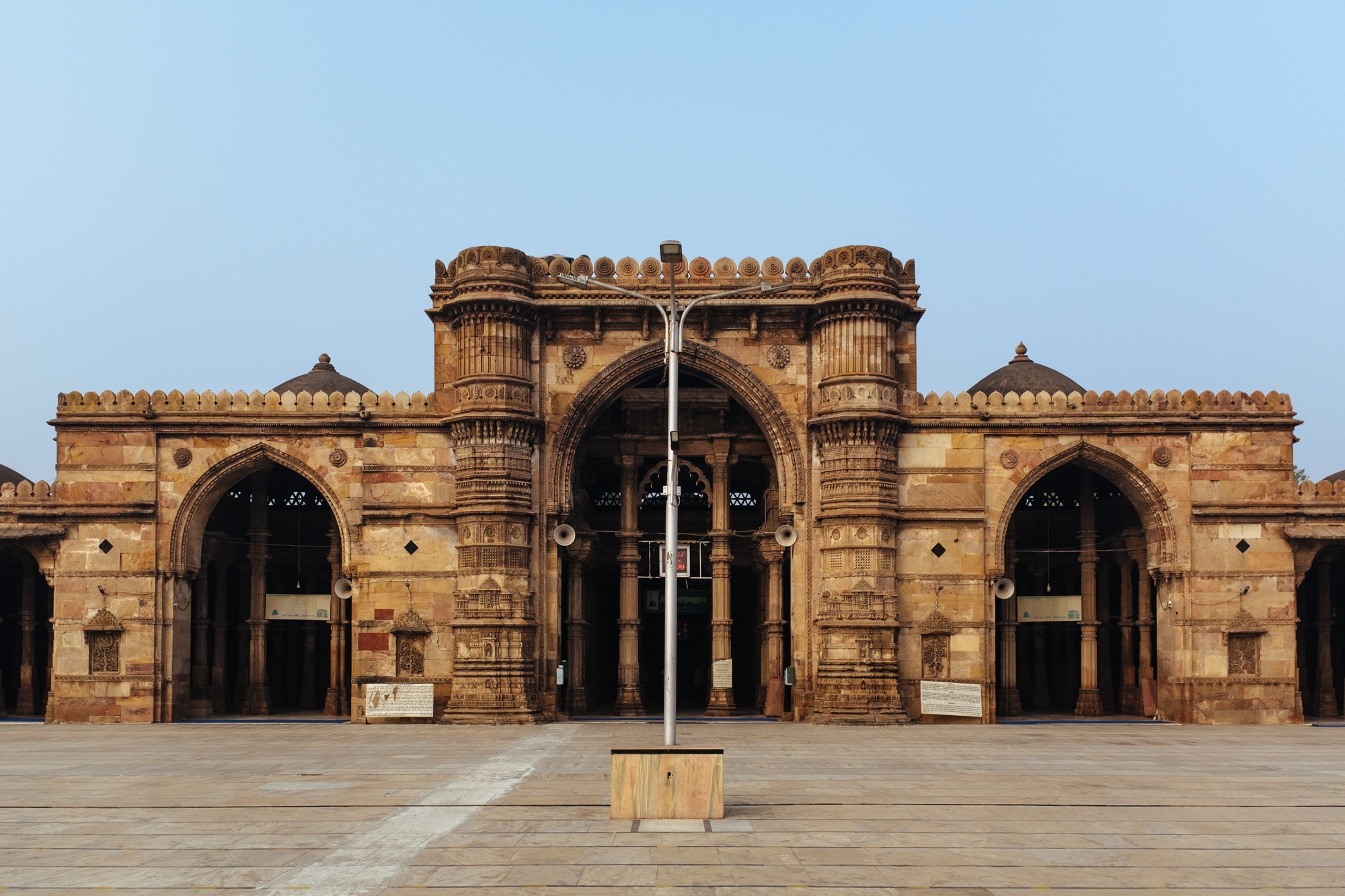 Built of yellow sandstones, the Jama Mosque was built by King Ahmad Shah - I, the founder of Ahmedabad.