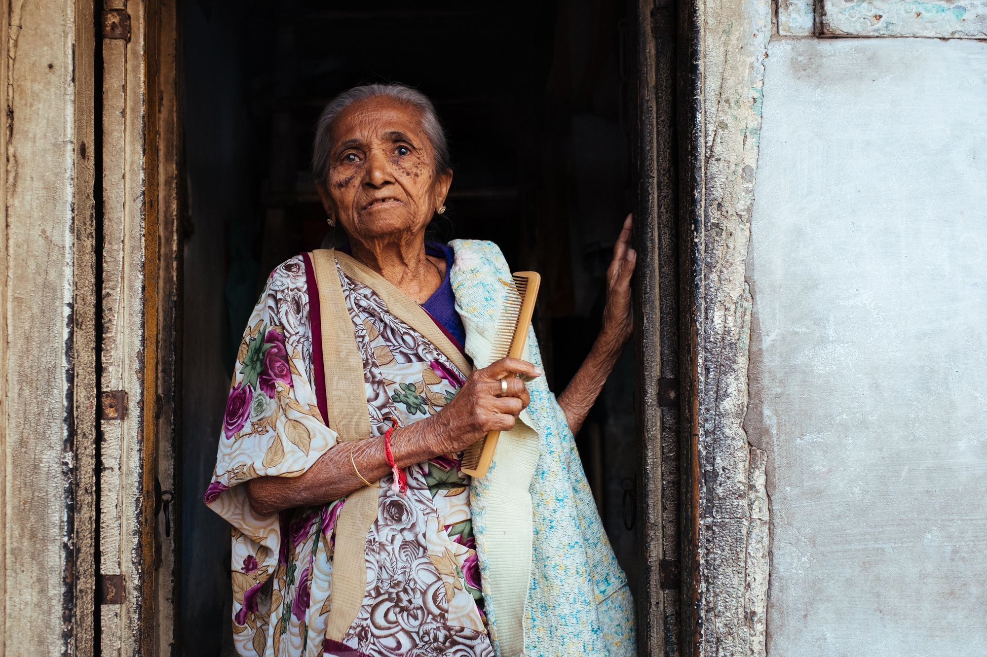 A 93-year-old woman in Ahmedabad