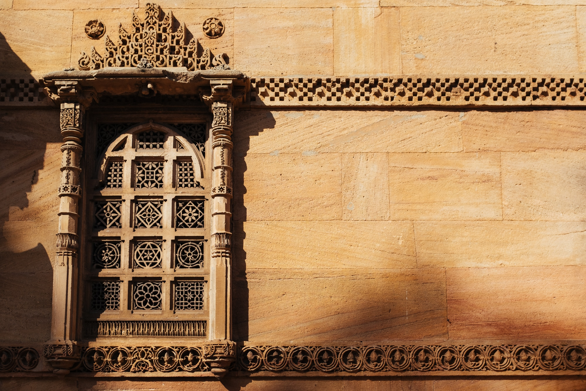 One of the windows of Rani Rupmati Mosque, Ahmedabad.
