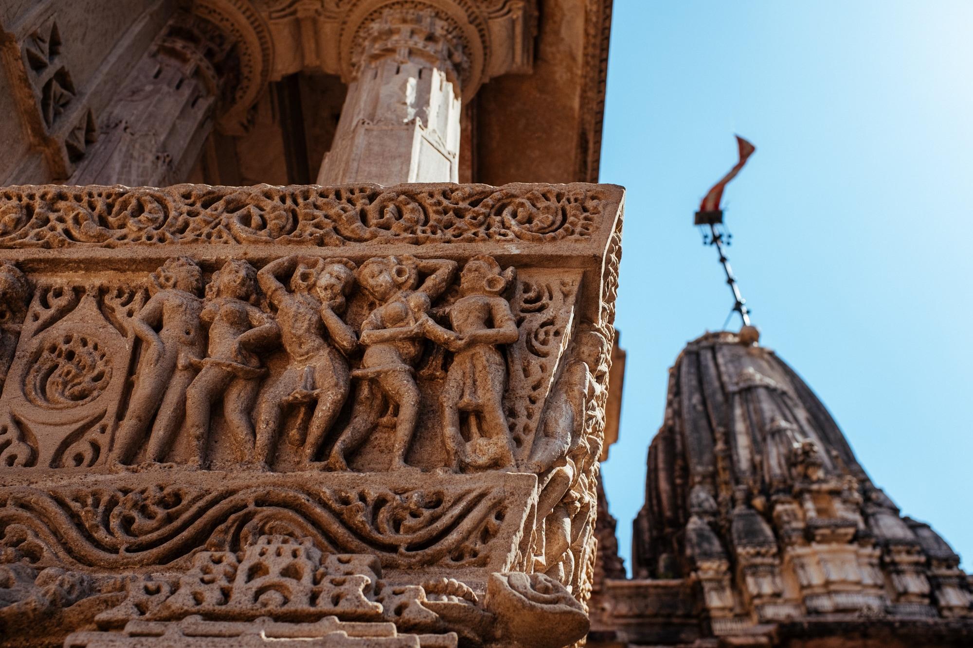 Carvings at Hutheesing Jain Temple - II
