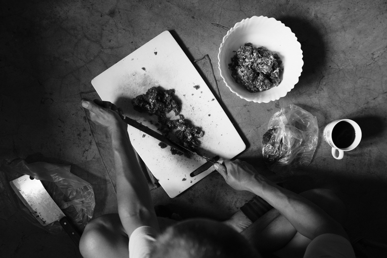 Thupten mincing meat